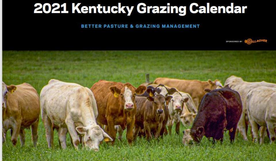 2021 Kentucky Grazing Calendar